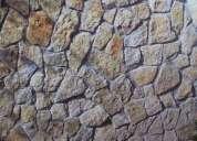 Colocacion de piedra y ladrillo rustico