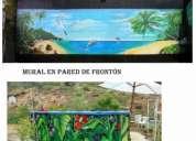 Muralista pintor grafitti