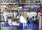 Busco empleo ayudante de cocina maria jose toda malaga