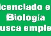 Licenciado en biología