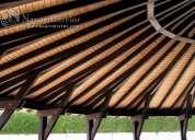 Estructura de madera, pergolas, porches, toldos, chiringuitos en murcia, almeria, alicante