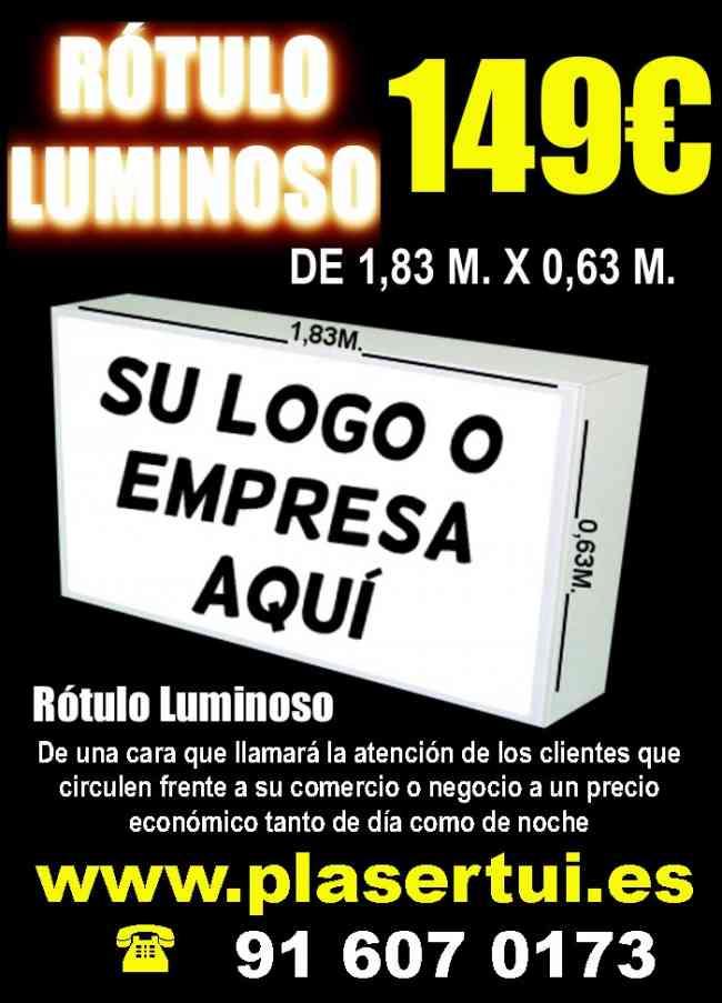 Rótulo Luminoso de 1,83M. x 0,63M. en sólo 149€ ...super ofertaaaa
