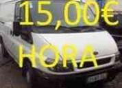 transportes*15€ /hora*mudanzas*15€*de lunes a