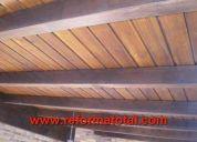 Instalaciones techos rusticos de madera