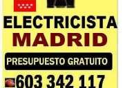 electricista barrio prosperidad y guindaleda