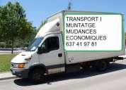 Transportes, mudanzas, minimudanzas