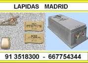 Marmolista grabacion  venta de lapidas 913518300 madrid 667754344
