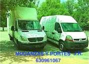 Portes en mostoles  630961067 ®® furgones amplios mudanzas economicas mostoles