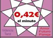 Tarot el mejor y economico ! 0,42/min.