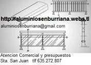 Carpinteria de aluminio, ventanas, puertas y cerramientos