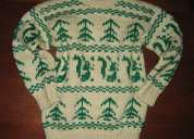 Jersey invierno verde para niño